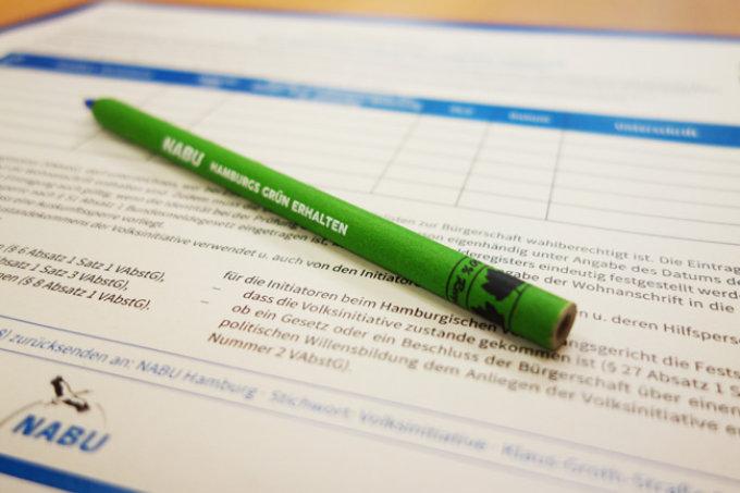 Unterschriftenliste der Volksinitiative - Foto: Ilka Bodmann