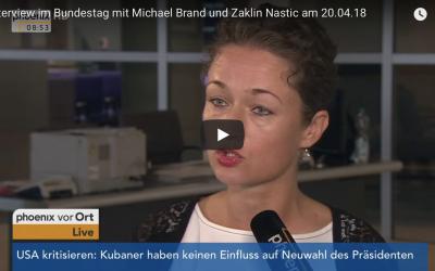 Interview im Bundestag mit Michael Brand und Zaklin Nastic am 20.04.18