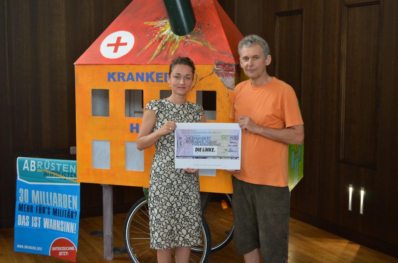 Zaklin Nastic unterstützt Hamburger Forum für Völkerverständigung
