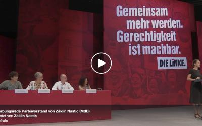 Meine Bewerbungsrede zum Parteivorstand vom 9. Juni auf dem Bundesparteitag in Leipzig