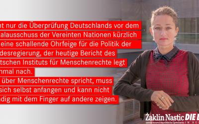 Deutsche Politik missachtet Menschenrechte