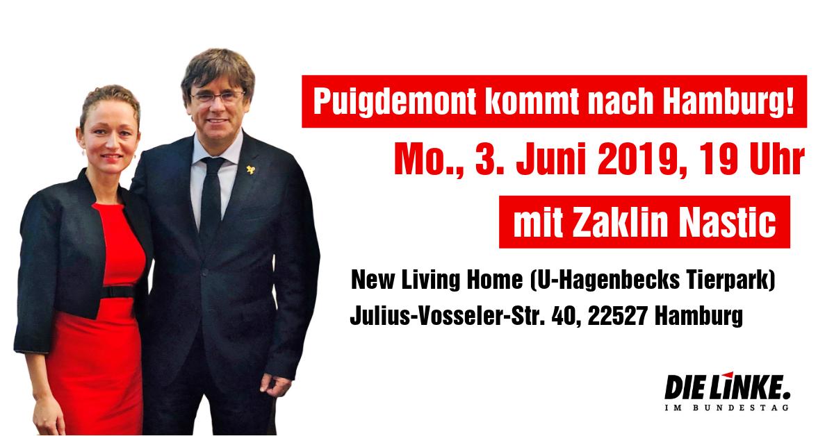 Carles Puigdemont kommt nach Hamburg!