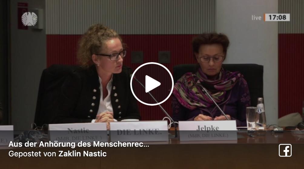 Aus der Anhörung des Menschenrechtsausschusses zur Klage gegen die EU