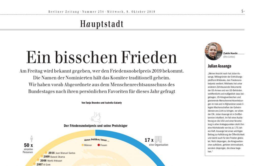 Berliner Zeitung: Ein bisschen Frieden