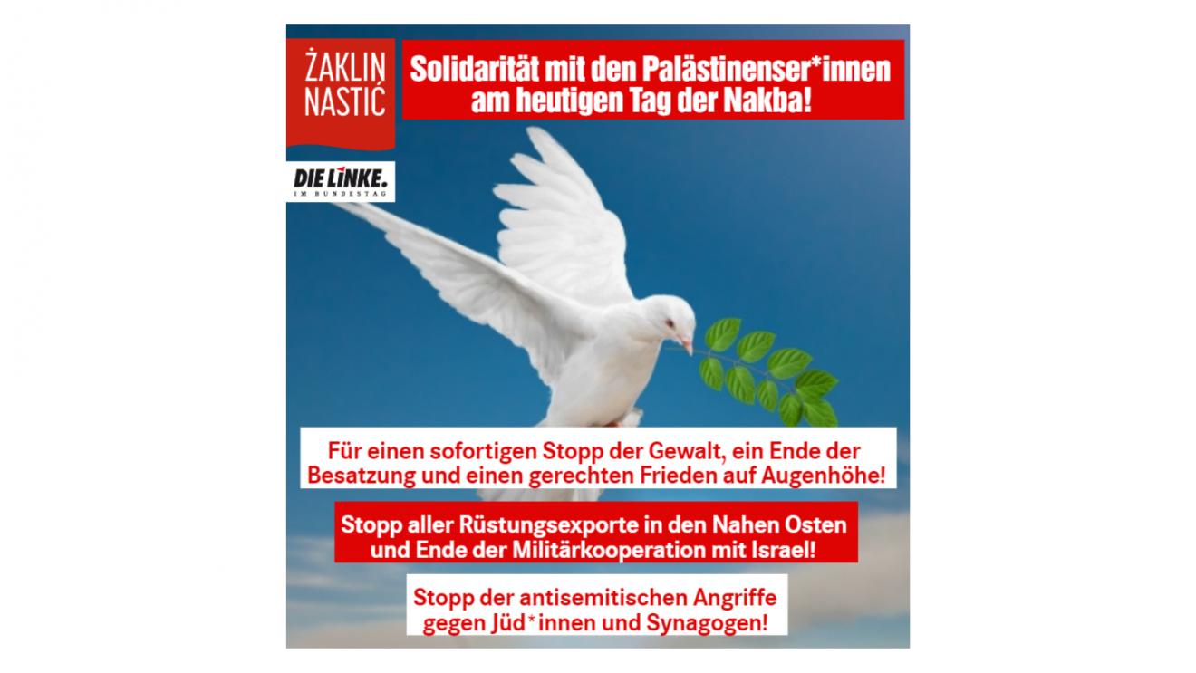 Solidarität mit Palästinenser*innen am heutigen Tag der Nakba